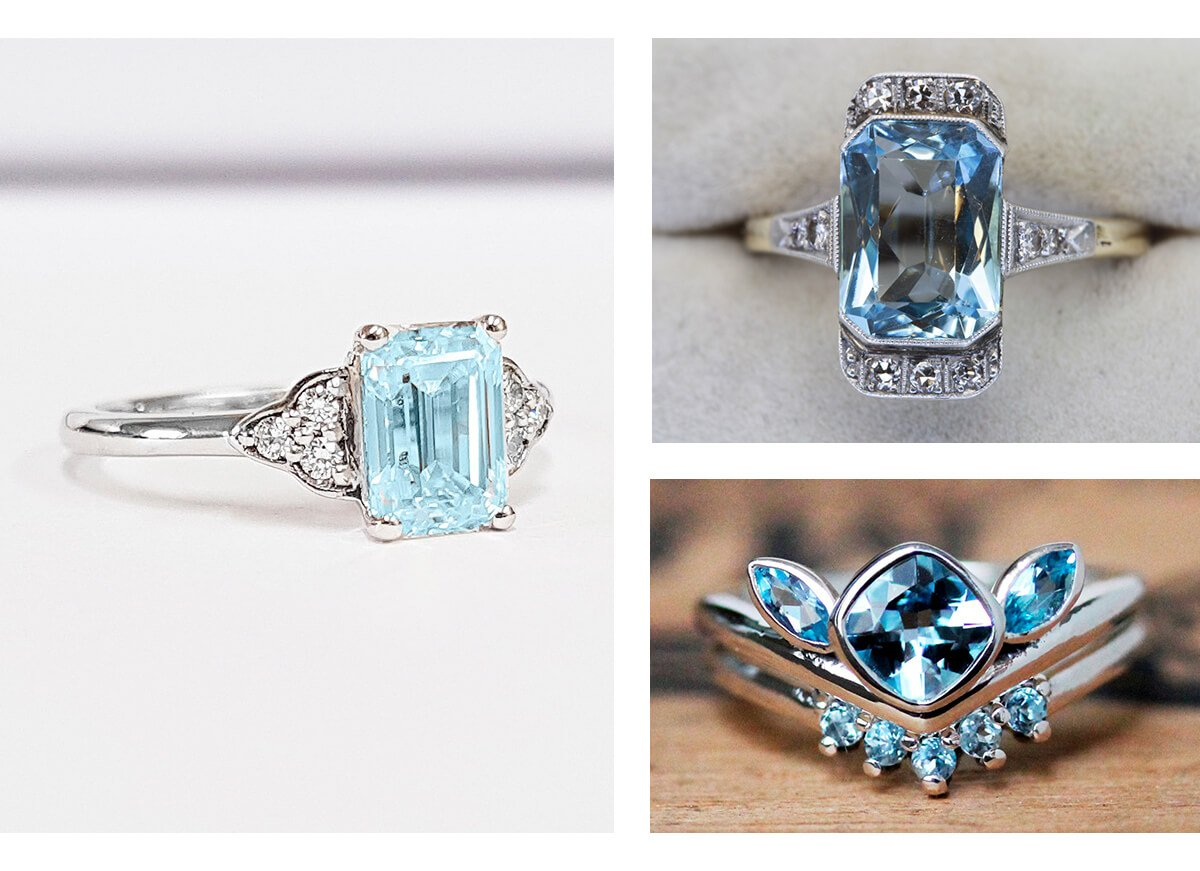 alternative gemstones engagement rings