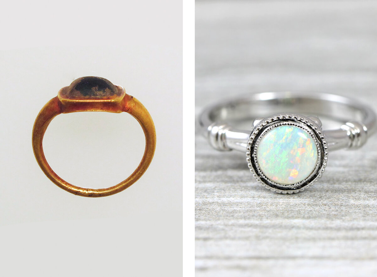 high & low profile engagement rings