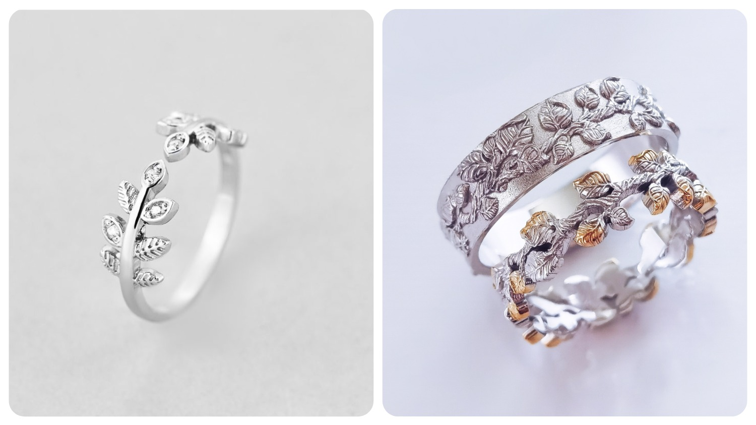 nature inspired engagement rings